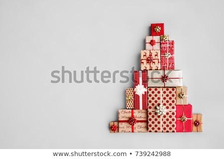 hediyeler · beyaz · mavi · gümüş · siyah - stok fotoğraf © solarseven