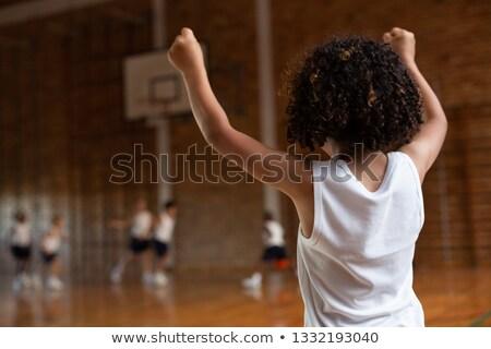 вид сзади школьник оружия вверх команда Сток-фото © wavebreak_media