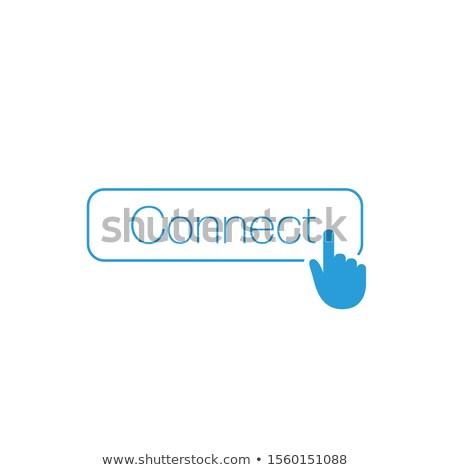 Simple connecter bouton web ui applications Photo stock © kyryloff