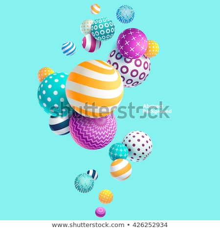 abstract sphere on blue background. Isolated 3D illustration Stock photo © ISerg