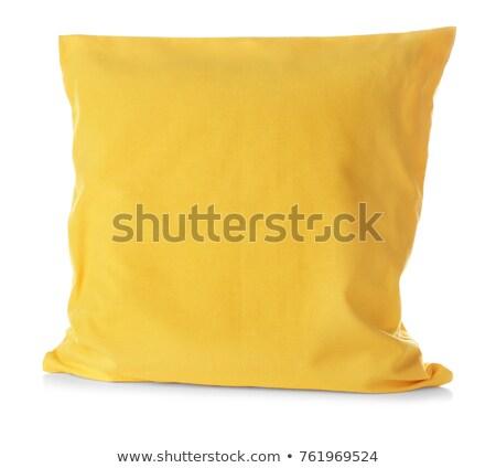 Cómodo amarillo almohada aislado blanco sueno Foto stock © magraphics