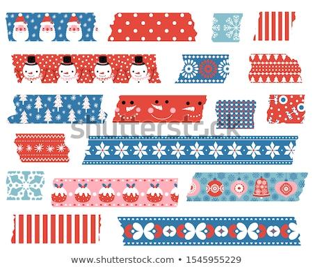 Snowflakes Pattern With Torn Stripe Stockfoto © Pravokrugulnik