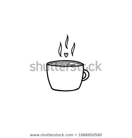 cozy cafe icon vector outline illustration Stock photo © pikepicture