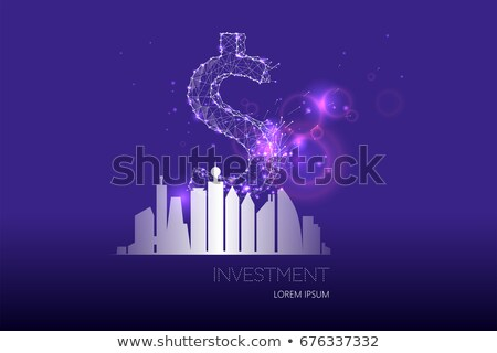 Modern City Real Estate Building and Dollar Sign Stock photo © robuart