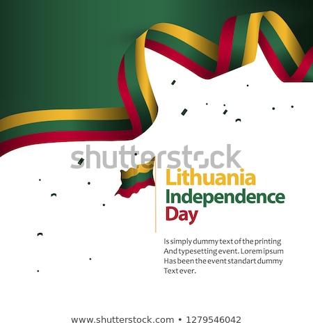 Litvánia zászló kéz fehér szabadság Európa Stock fotó © butenkow
