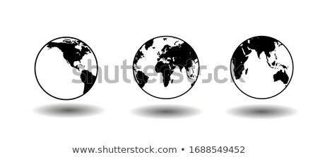 Terra astronomico segno semplice nero icona Foto d'archivio © evgeny89