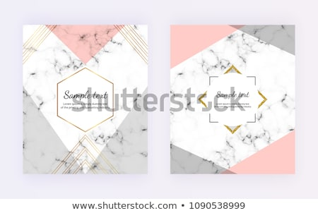 Chic business card or invitation mockup on marble background, paper and stationery branding Stock photo © Anneleven