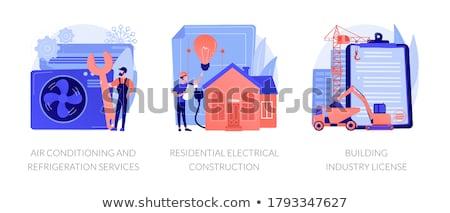 Gebäude Industrie Lizenz abstrakten lokalen Builder Stock foto © RAStudio