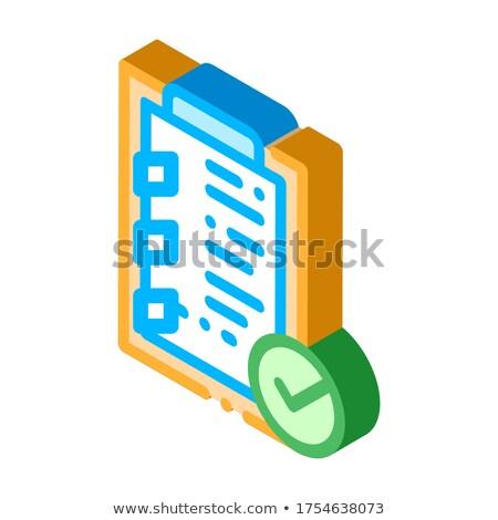 タブレット クリップ チェック リスト アイソメトリック ストックフォト © pikepicture