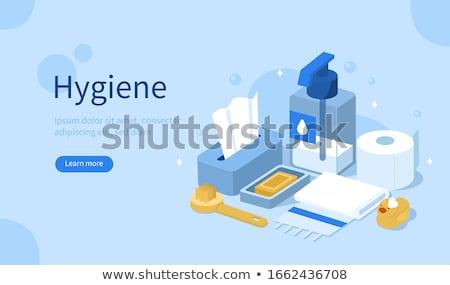 Higiene sabão espuma isométrica ícone vetor Foto stock © pikepicture