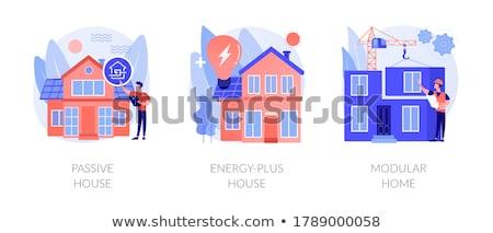 Innovatív építkezés technológiák absztrakt vektor illusztrációk Stock fotó © RAStudio