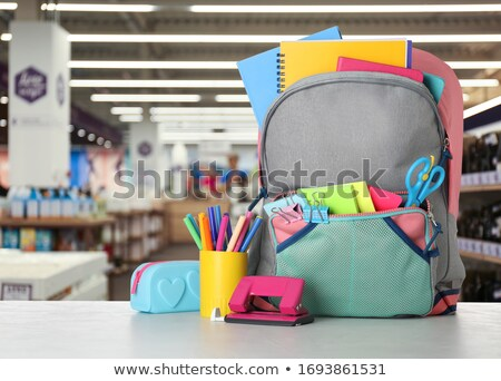 Back to School, Rucksack with Books and Textbooks Stock photo © robuart