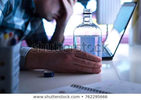 office drunk Stock photo © morrbyte