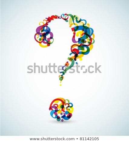 Groot vraagteken vraagtekens retro kleuren achtergrond Stockfoto © orson