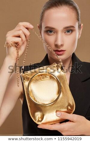 mulher · bolsa · menina · sorrir - foto stock © photography33