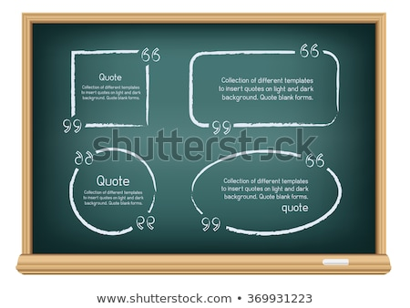 chat board drawn on a blackboard stock photo © bbbar