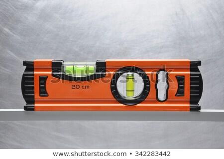 Inşaatçılar ruh seviye alüminyum cetvel sarı Stok fotoğraf © backyardproductions