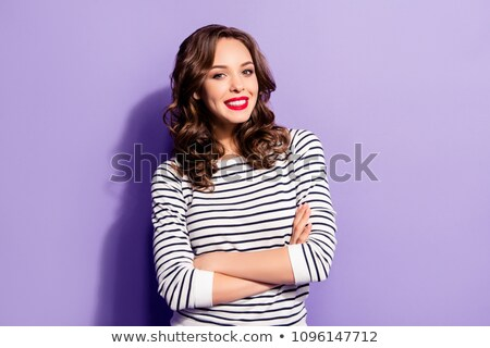 Beautiful Smile with Dimples Stock photo © stryjek
