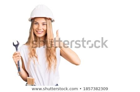 handywoman doing thumbs-up Stock photo © photography33