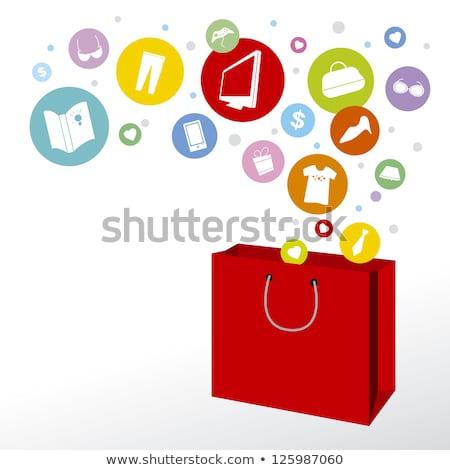 Rood · boodschappentas · dollar · shot - stockfoto © devon