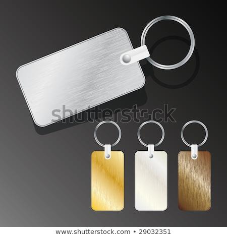 fekete · fém · kulcs · címke · terv · űr - stock fotó © pinkblue
