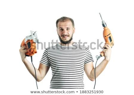Sonriendo trabajador eléctrica casa Trabajo Foto stock © photography33