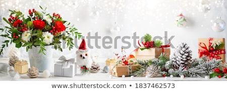 christmas · decoraties · kaarsen · Blauw · achtergrond · vak - stockfoto © elinamanninen