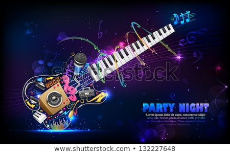Music Background With Speaker And Glow Stockfoto © Vectomart