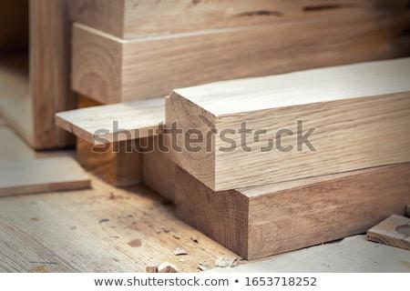 Tamplarie artă lemn om muncă lucrător Imagine de stoc © hraska