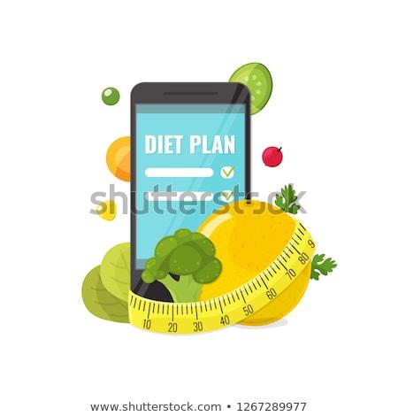 Skorygowania warzyw diety starych srebrny łyżka Zdjęcia stock © vavlt