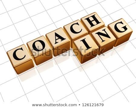 business coaching in golden cubes Stock photo © marinini