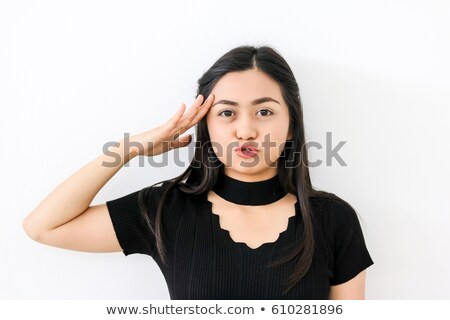 Stok fotoğraf: Genç · askerler · genç · kadın · silahlar · yalıtılmış