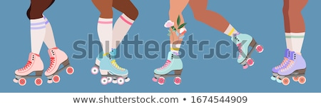Flower is roller skate Stock photo © zzve
