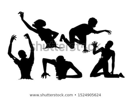 Zombie Man Crawling Stock photo © Kakigori