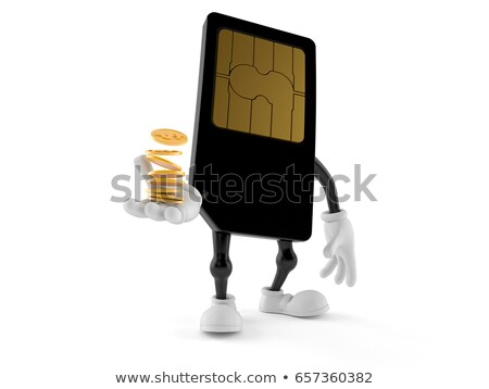 Sim card with coins Stock photo © gladiolus