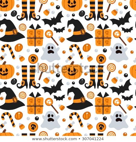 Halloween assustador brilhante amarelo abóboras colorido Foto stock © bharat