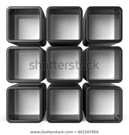 Dziewięć kolorowy bloków biały polu Zdjęcia stock © mayboro1964