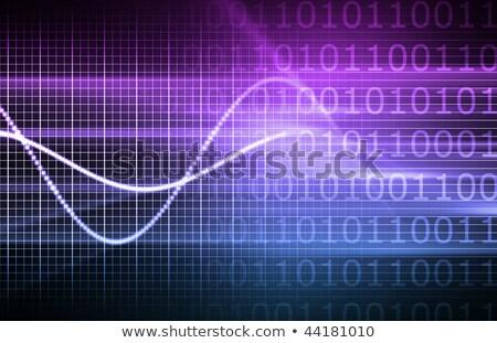 Hozam sötét digitális növekedés diagram kék Stock fotó © tashatuvango