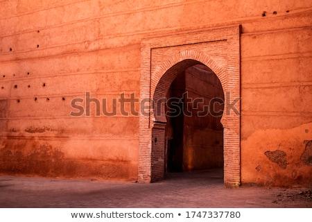 Arquitetura Marrocos norte África parede Foto stock © haraldmuc
