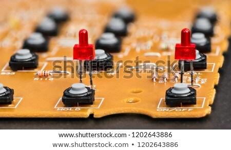 Voip rosso tastiera pulsante nero Foto d'archivio © tashatuvango