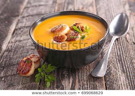 pumpkin soup and scallop Stock photo © M-studio