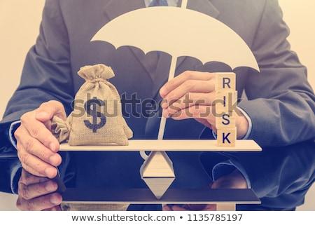 ganância · piggy · bank · tenha · armadilha · branco · dinheiro - foto stock © idesign