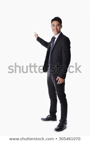 Full body picture of a elegant business man Stock photo © feedough