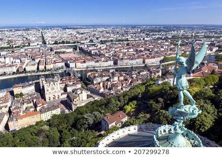 Horizontal ver rio Lyon França céu Foto stock © vwalakte