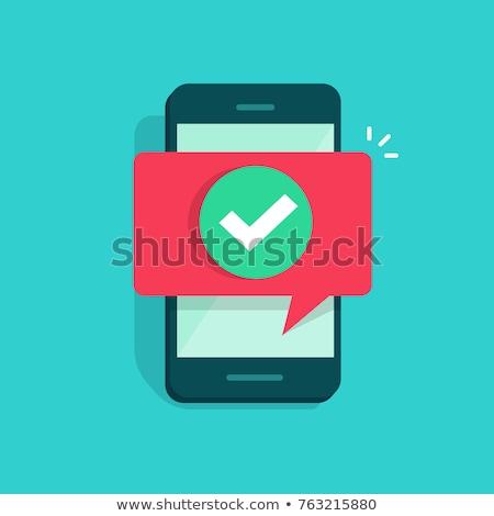 Smart Phone Green Vector Icon Button Stock photo © rizwanali3d