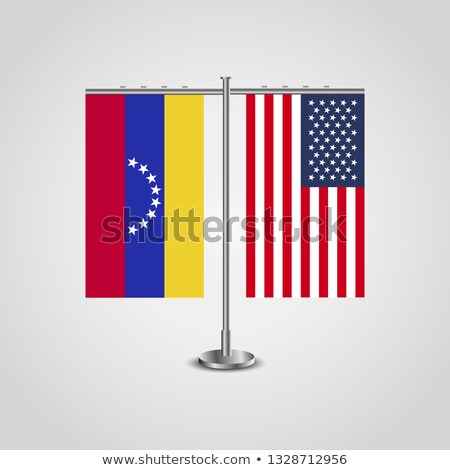 EUA Venezuela miniatura bandeiras isolado branco Foto stock © tashatuvango