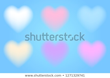 vector holiday illustration of flying blurred violet hearts valentines day or wedding background stock photo © maximmmmum