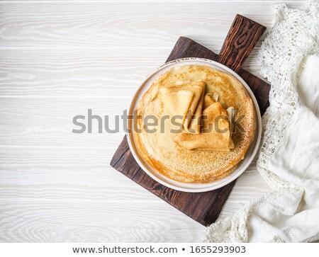 Pancake Above View on White Stock photo © ozgur