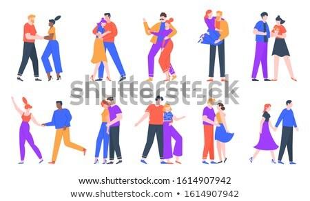Aranyos pár randevú elvesz lány boldog Stock fotó © wavebreak_media