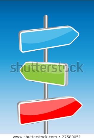 Három citromsárga üres nyíl feliratok szabad Stock fotó © w20er